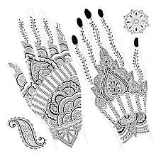 Set de tatouages pour la main 'Orient'