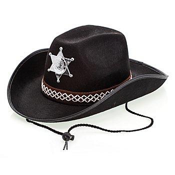 Hut 'Little Sheriff' für Kinder, schwarz