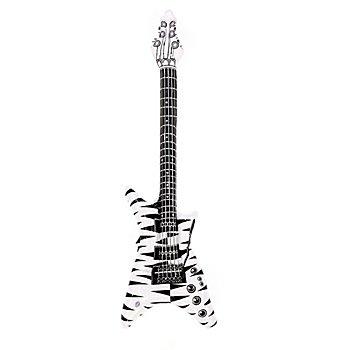Aufblasbare E-Gitarre 'Black & White'