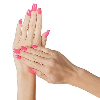 Faux ongles 'rose fluo'