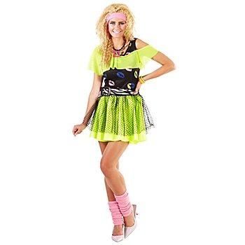 80er-Jahre-Kostüm 'Neon Lips' für Damen