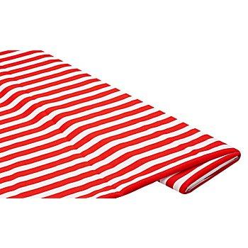 Streifenstoff, rot/weiß