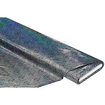 Tissu jersey laqué 'hologramme', noir/argent