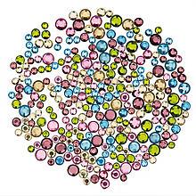 Strasssteine, pastell, 4, 5, 6 mm Ø, 250 Stück