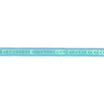 Paillettenborte, hellblau, 12 mm, 3 m