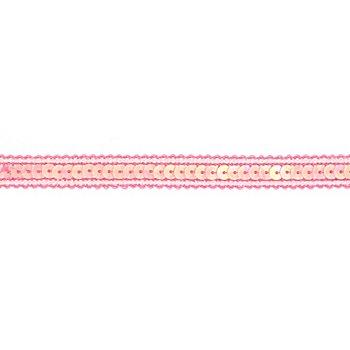 Paillettenborte, rosa, 12 mm, 3 m