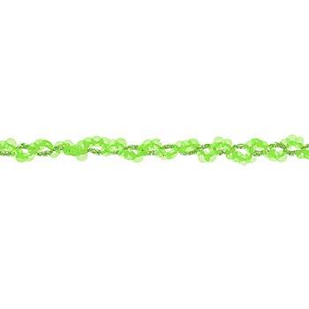 Ruban de paillettes, vert, 15 mm, 3 m