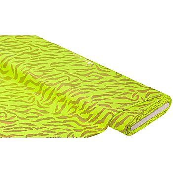 Tissu jersey extensible 'zèbre', jaune fluo/rose vif
