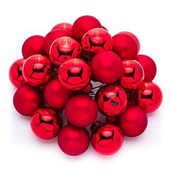 Boules de Noël avec fil métallique, rouge