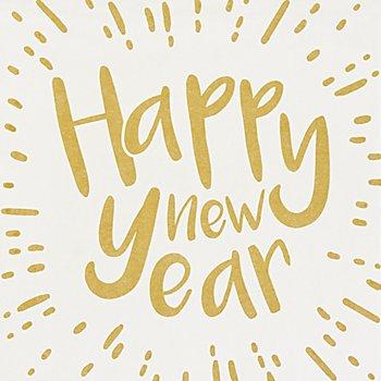 Serviette 'Happy new Year', metallic, 33 x 33 cm, 12 Stück
