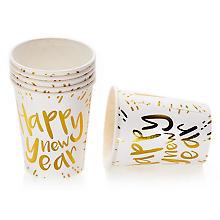 Pappbecher 'Happy new Year', 8 Stück