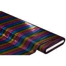 Elastik-Jersey 'Regenbogen' mit Foliendruck, bunt