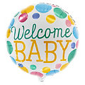 "Folienballon ""Welcome Baby"", 46 cm Ø"