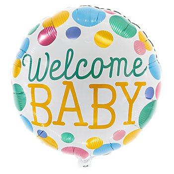 Folienballon 'Welcome Baby', 46 cm Ø