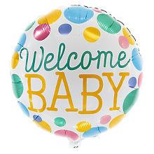 Folienballon 'Welcome Baby', 46 cm Ø