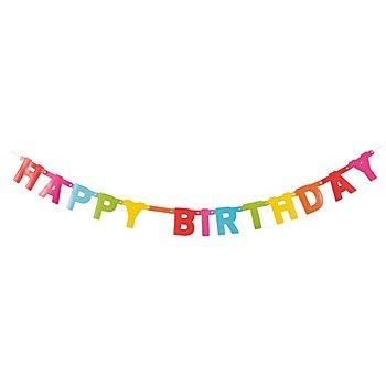 Girlande 'Happy Birthday', 1,50 m