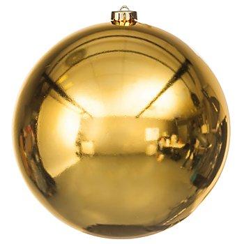 Weihnachtskugel, gold, 20 cm Ø