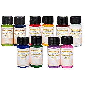 buttinette Teppichmalfarben in verschiedenen Farbkombinationen, 2x 50 ml