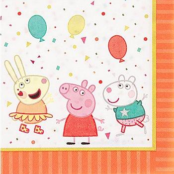 Papierservietten 'Peppa Pig', 33 x 33 cm, 16 Stück