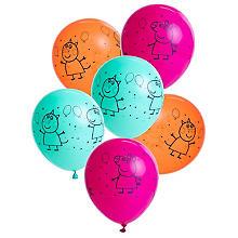 Luftballon 'Peppa Pig', 6 Stück