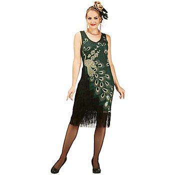 20er-Jahre-Kleid 'Pfau' für Damen