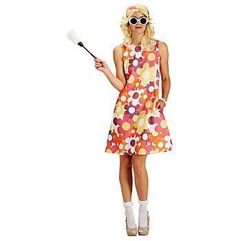 buttinette 60er-Jahre Retro-Kleid 'Blumen'