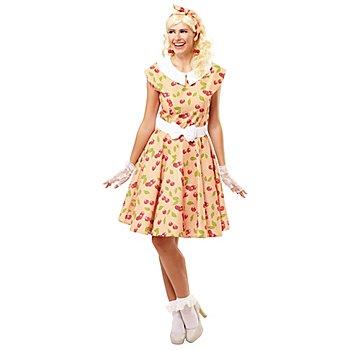 buttinette Rock'n'Roll-Kleid 'Kirschen' für Damen