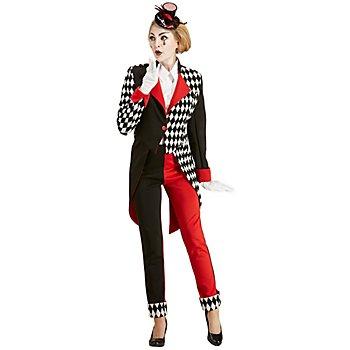 buttinette Pierrot-Kostüm 'Raute' für Damen