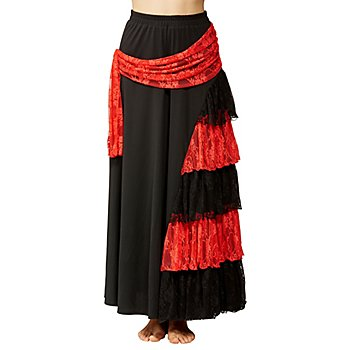 Flamenco-Rock, schwarz/rot