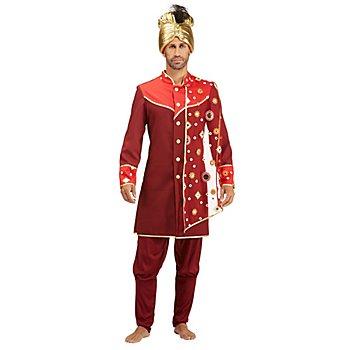 Orient-Kostüm 'Scharid' für Herren, orange/rot