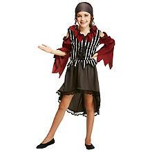 Piratenmädchen, weinrot/silber