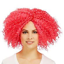 Perücke 'Korkenlocken', pink