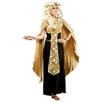 Pharaonin-Kleid für Damen, schwarz/gold