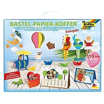 Folia Bastelpapier-Koffer 'Allgemein', 110-teilig