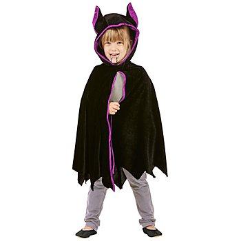 Fledermaus-Cape 'Midnight' für Kinder, schwarz/lila