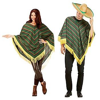 buttinette Mexikaner-Poncho für Erwachsene