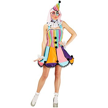 Clown-Kostüm 'Rainbow' für Damen