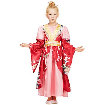 Geisha-Kostüm 'Miyuku' für Kinder, rosa