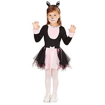 Kätzchen-Kostüm für Kinder, schwarz/rosa