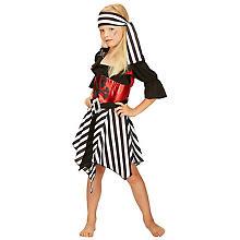 Déguisement Robe de pirate pour enfants, noir/rouge
