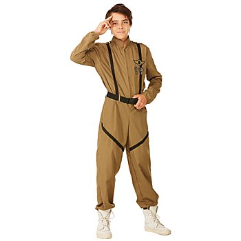 Fallschirmspringer-Kostüm für Kinder, khaki