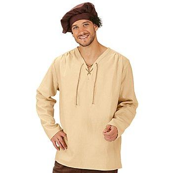 Bauernhemd 'Mittelalter', beige