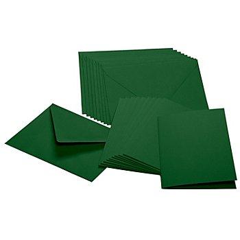 Doppelkarten & Hüllen, tanne, A6 / C6, je 10 Stück