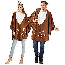 Poncho de chevreuil pour hommes et femmes