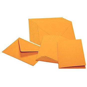 Doppelkarten & Hüllen, mandarine, A6 / C6, je 10 Stück