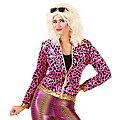 "80er-Jacke ""Wild Lady"", pink/gold"
