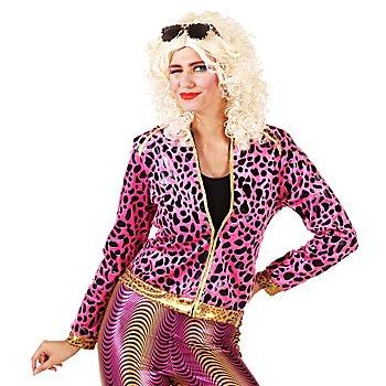 80er-Jacke 'Wild Lady', pink/gold