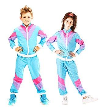 80er-Jahre-Trainingsanzug für Kinder, hellblau