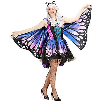 Schmetterling-Kostüm 'Fantasia' für Damen, lila/blau