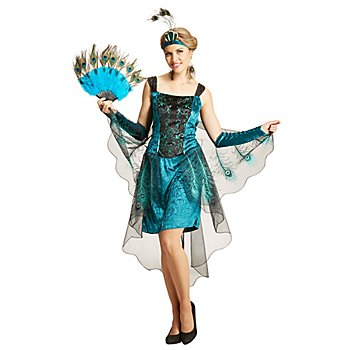 Pfau-Kostüm 'Feder' für Damen
